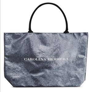 NEW CAROLINA HERRERA GLITTER TOTE BAG